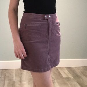 Purple Corduroy Pencil Skirt